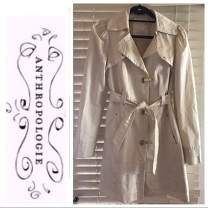 ANTHROPOLOGIE Trench Coat Size 8